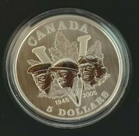 2005 CANADIAN 60TH ANNIVERSARY OF THE END OF 2ND WORLD WAR