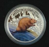 2015 CANADIAN $20 FINE SILVER COIN   BEAVER AT WORK  CS520