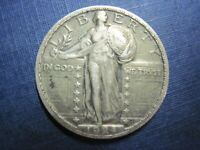 CIRCULATED 90 SILVER 1924 STANDING LIBERTY QUARTER UNGRADED UNCERTIFIED