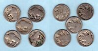 LOT OF 5 BUFFALO NICKLES -  DETAILS