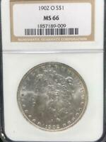 1902 O $1 MORGAN SILVER DOLLAR NGC MINT STATE 66