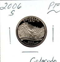 2006 S COLORADO STATE QTR GEM PROOF CAMEO MIGHT SELL 1ST BID