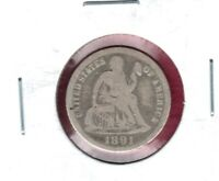1891 SEATED LIBERTY DIME GRADES GOOD LIBERTY SHOWS BUY IT NOW C1010