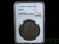 1779MO FF MEXICO SILVER 8 REALES NGC AU 58