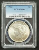 1925 PEACE DOLLAR PCGS MINT STATE 64