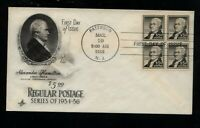 US  1053  $5  HAMILTON BLOCK  FIRST DAY COVER   NICE ITEM     MS0210