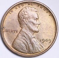UNCIRCULATED 1909 VDB DOUBLE DIE OBV. LINCOLN WHEAT CENT PEN