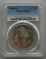 1884 O/O  PCGS GRADED MINT STATE 62 VAM 8  O/O CENTER,  FAR DATE, OVERLAPPING REEDING