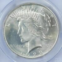 1  BU $1 1923 PEACE SILVER DOLLAR DRIPPING WITH LUSTER UNC MS 90  BULK & SAVE