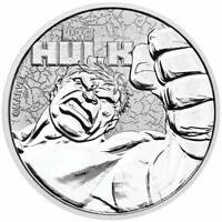 2019 TUVALU HULK 1 OZ SILVER MARVEL SERIES $1 GEM BU COIN SKU58800