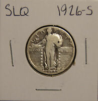 1926-S STANDING LIBERTY QUARTER- VG -  GOOD PLUS