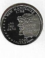 2000 S N. HAMPSHIRE STATE QUARTER GEM PROOF CAMEO BETTER  TH