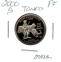 2000 S MASSACHUSETTS STATE QUARTER GEM PROOF DEEP CAMEO TONE