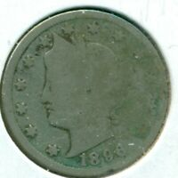 1896 LIBERTY HEAD NICKEL, ABOUT GOOD, GREAT PRICE 7-8