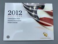 USA 2012 US MINT ANNUAL UNCIRCULATED DOLLAR COIN SET SILVER