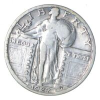 1927-S STANDING LIBERTY SILVER QUARTER - CIRCULATED 0400