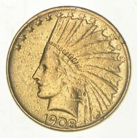 1908 INDIAN HEAD $10.00 GOLD EAGLE   US GOLD COIN  987