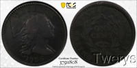 1794 LIBERTY CAP LARGE CENT 1C S 71 HEAD OF 1795 PCGS VF DET