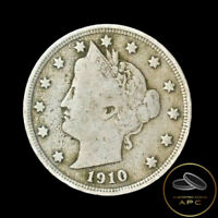 1910 LIBERTY HEAD V NICKELFFINECOMBINED SHIPPING