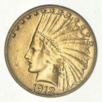 1912 INDIAN HEAD $10.00 GOLD EAGLE   US GOLD COIN  985