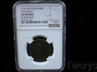 1787 COPPER NO PLOW SPRIG NEW JERSEY NGC VG DETAILS