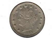 1883 LIBERTY NICKEL NO CENTS..CHOICE BU  COIN BUY IT NOW C222
