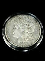 1921-D MORGAN SILVER DOLLAR EXTRA FINE   LUSTER IN AIRTIGHT CAP LM035