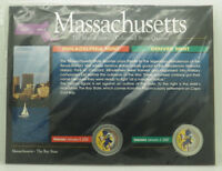 2000 MASSACHUSETTS COLORIZED STATE P & D QUARTER SET W/ COA
