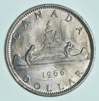 SILVER DOLLAR 80  1966 CANADA CANADIAN ASW .60 TROY OUNCES