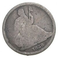 1838 O SEATED LIBERTY DIME   CHARLES COIN COLLECTION  735