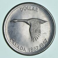 SILVER DOLLAR 80  1967 CANADA CANADIAN ASW .60 TROY OUNCES