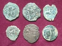 CENTRAL ASIA: LOT OF SIX SOGDIAN COINS OF CHACH. SOME SCARCE