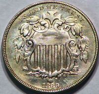 1869 SHIELD NICKEL 5C US  BRIGHT TYPE COIN GOOD LOOKING COIN G11