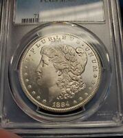 1884-CC MORGAN SILVER DOLLAR PCGS MINT STATE 66 CARSON CITY  COIN BETTER DATE