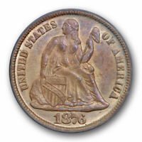 1876 CC 10C SEATED LIBERTY DIME PCGS MS 63 UNCIRCULATED OGH CAC APPROVED