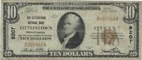 $10 LITTLESTOWN PA 9207 NATIONAL BANK NOTE TYPE 1 SMALL SIZE