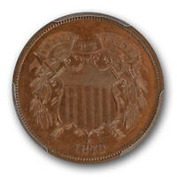 1870 TWO CENT PIECE PCGS PR 64 BN PROOF  CAC APPROVED LOOKS R