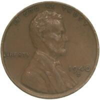 1940 D LINCOLN WHEAT CENT EXTRA FINE PENNY EXTRA FINE