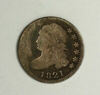 1821 CAPPED BUST DIME 10C SILVER US COIN