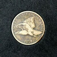 1858 FLYING EAGLE CENTVG1BETTER DATEMINTED 3 YEARS ONLYCOMBINED SHIPPING