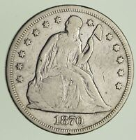 1870 SEATED LIBERTY SILVER DOLLAR - CIRCULATED 9292