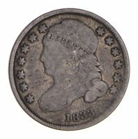 1833 CAPPED BUST DIME - CIRCULATED 9673