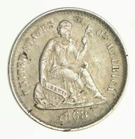 1868-S SEATED LIBERTY SILVER HALF DIME - CIRCULATED 4125