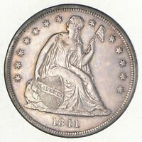1841 SEATED LIBERTY SILVER DOLLAR 2702