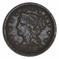 1848 BRAIDED HAIR LARGE CENT - CIRCULATED 8497
