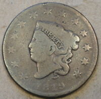 1819 CORONET HEAD LARGE CENT AS PICTURED