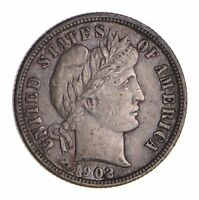 1902 BARBER SILVER DIME - CIRCULATED 9794