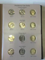 2007-2016 PDS PRESIDENTIAL $1 117 COIN SET IN 2 DANSCO ALBUMS WITH PROOFS