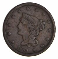 1841 BRAIDED HAIR LARGE CENT - CIRCULATED 9931