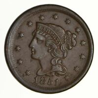 1851 BRAIDED HAIR LARGE CENT - N-28 - NEAR UNCIRCULATED 6965